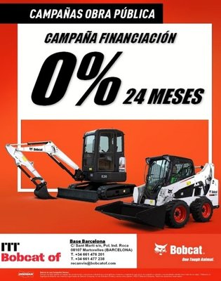 ITT Bobcat Castellon at 0% financing